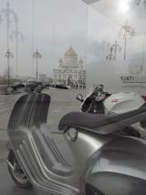 Храм фарами мотоцикла